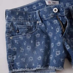Anthropologie AG + Liberty Daisy Cut Off Jeans